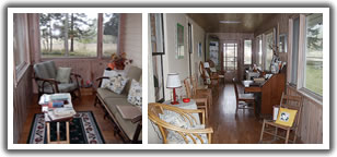 Click to enlarge - sunny west side enclosed porch & nook